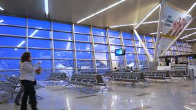 Lotniskowego Terminal bramy dolly strzał zbiory