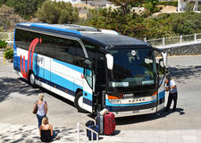 Lotniskowego wahadłowa autobus obraz royalty free
