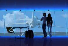 lotniskowi ludzie ilustracja wektor