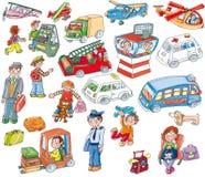 Lotniskowi majchery, children& x27; s gra Obrazy Stock