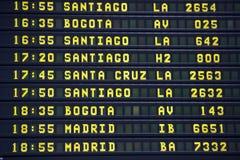 Lotniskowi odjazdy wsiadają południe - amerykańscy podróży miejsca przeznaczenia Obraz Royalty Free