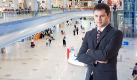 lotniskowi pasażery fotografia royalty free