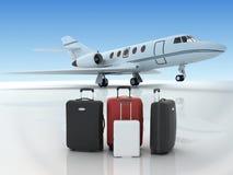 Lotniskowi suitecases Obrazy Royalty Free