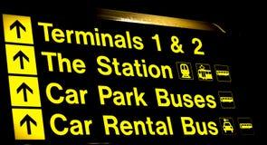 Lotniskowi terminale i stacja znak Fotografia Stock