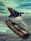 Lotniskowiec Zdjęcia Royalty Free