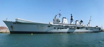 Lotniskowiec HMS Znakomity Fotografia Stock