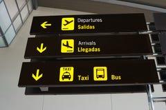 lotniskowy backround zapina znaki biały Zdjęcie Stock