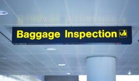 Lotniskowy bagażowy inspekcja znak Fotografia Royalty Free