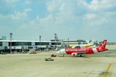 Lotniskowy Bangkok Azja Aerobus i Nok powietrze Fotografia Stock