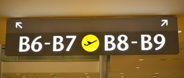 Lotniskowy brama znak Obraz Royalty Free