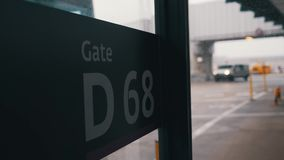 Lotniskowy brama znak w górę zbiory