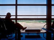lotniskowy czekanie obraz stock