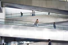 lotniskowy eskalatoru gandhi indira intarnational Obraz Royalty Free