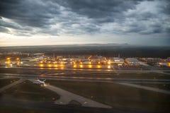 Lotniskowy Frankfurt w ranku Zdjęcie Royalty Free