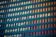 Lotniskowy lota ekran obrazy stock