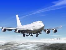 lotniskowy oddalony lądowanie Obrazy Stock