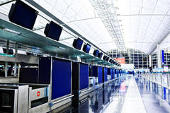 Lotniskowy odprawa kontuar Zdjęcie Royalty Free