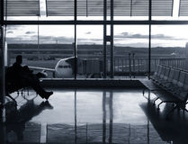 Lotniskowy opóźnienie Zdjęcia Stock