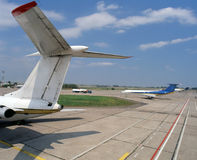 Lotniskowy pas startowy Fotografia Stock