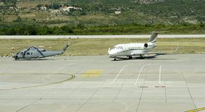 Lotniskowy pas startowy Dubrovnik Fotografia Stock