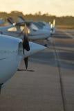 Lotniskowy pasek w ranku, Floryda Zdjęcia Royalty Free