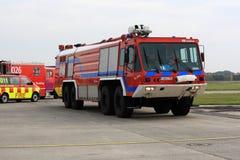 Lotniskowy pożarniczy silnik zdjęcie royalty free