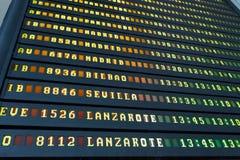 Lotniskowy rozkład zajęć Obraz Stock