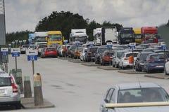 Lotniskowy ruchliwie parking Obrazy Stock