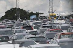Lotniskowy ruchliwie parking Zdjęcie Stock