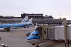 Lotniskowy Schiphol Amsterdam Zdjęcie Royalty Free