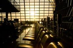 lotniskowy wczesny poranek Zdjęcie Royalty Free