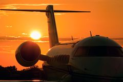 Lotniskowy zmierzch obraz royalty free