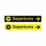 Lotniskowych odjazdów szyldowy wektorowy projekt Obraz Royalty Free