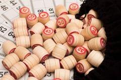 Loto. Barris de madeira Imagens de Stock Royalty Free