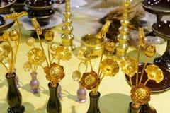 Loto de oro Foto de archivo libre de regalías