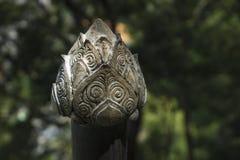 Loto de piedra en Wat Tham Sua, Krabi, piedra esculpida antigua de Tailandia Imagen de archivo