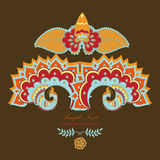 Loto indio mágico y el pavo real Foto de archivo libre de regalías