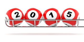 2015 loto. New Years 2015 lottery balls on a white background Stock Photo