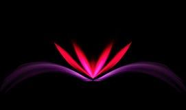Loto rosado y rojo con estilo ilustración del vector