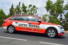 Loto Soudal Team Car La Vuelta España image stock