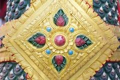 Loto tailandese di stile del modello variopinto Fotografia Stock