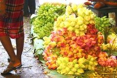 Lotos an einem Blumenmarkt in Kolkata lizenzfreie stockfotografie