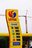 Lotos gas station Stock Image