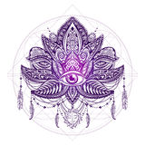 Lotos tattoo vector Stock Photography