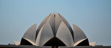 Lotos-Tempel, Delhi Lizenzfreie Stockfotos