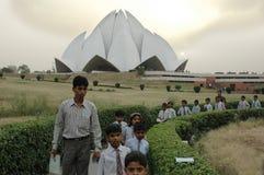 LOTOS-TEMPEL IN NEUEM DELHI-INDIA Lizenzfreie Stockbilder