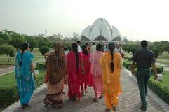 LOTOS-TEMPEL IN NEUEM DELHI-INDIA stockbilder