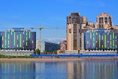 Lotos-Turm in St Petersburg, Russland Lizenzfreie Stockfotos