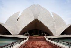 Lotosformoberseite auf Baha'i Tempel in Neu-Delhi. Lizenzfreie Stockfotografie