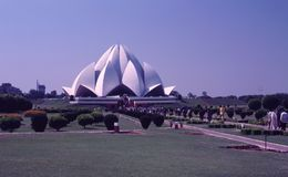 Lotosowa świątynia, Delhi, India Obrazy Royalty Free